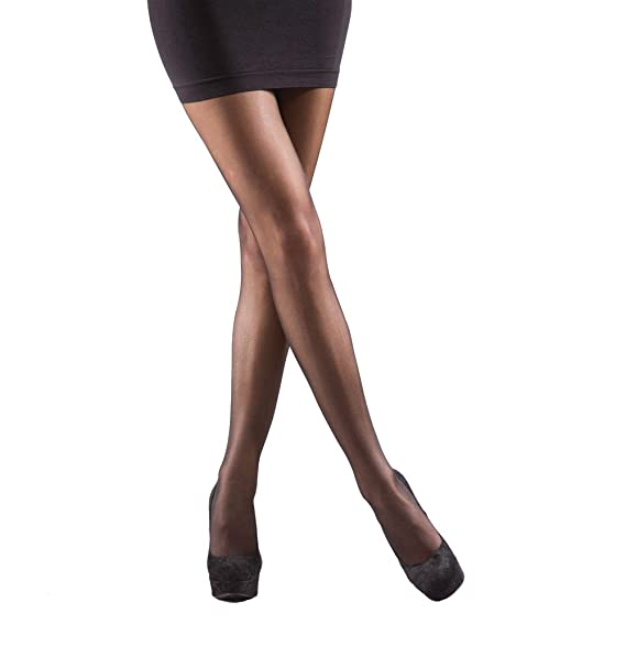d1e0f3509 Silky Sheer Light Leg Compression Support Tights up to XL at Amazon Women s  Clothing store