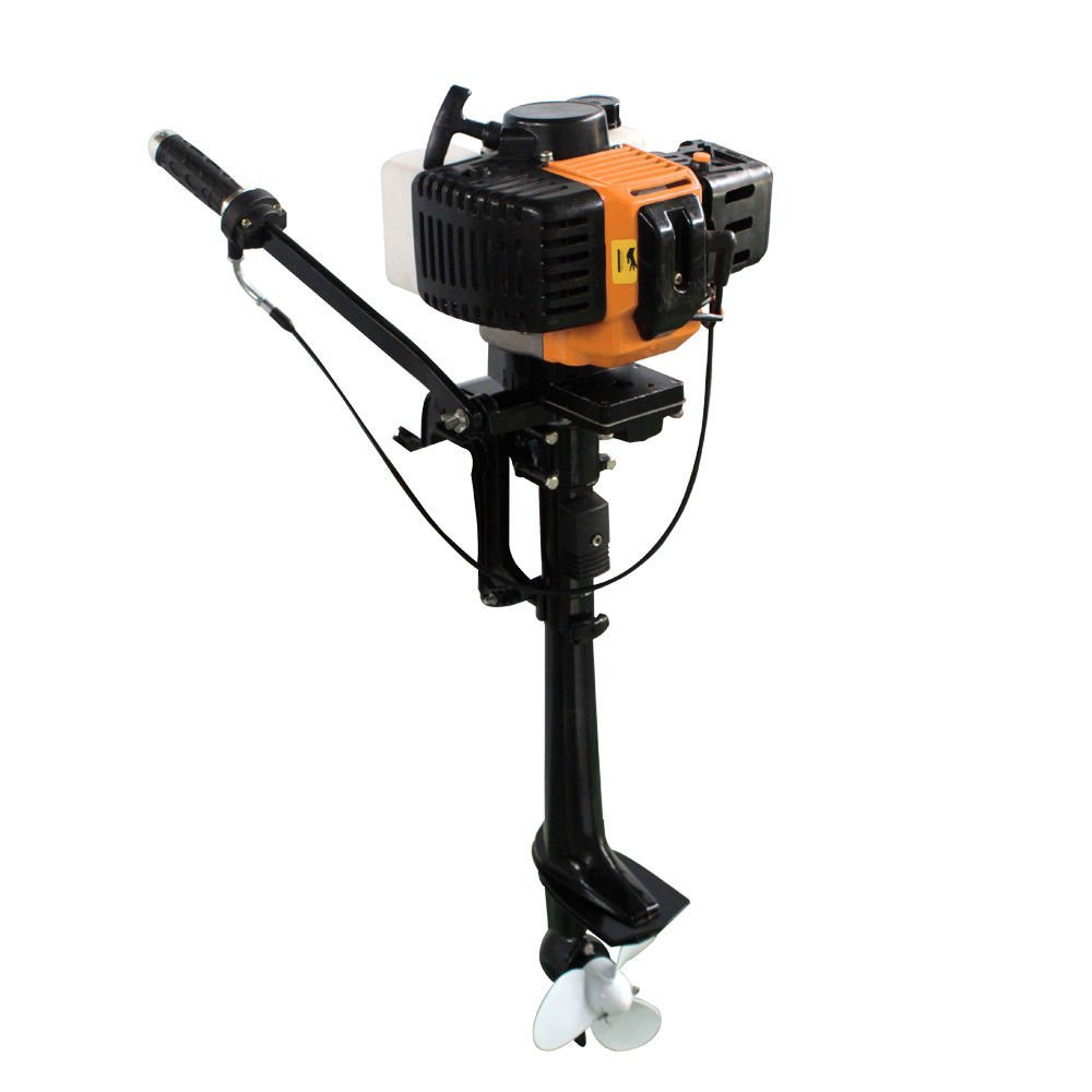 Outboard Motor, 3.5HP 2 Stroke Inflatable Heavy Duty Fishing Boat Engine Short Shaft CDI Air Cooling System(USA Stock) by SHZICMY