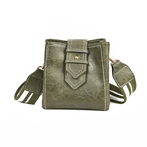 Bags handle Bags Ladies Shoulder Bags Wild Bucket Bag Top Strap Wide Green Girls Crossbody Shoulder For C4wvqFCzx