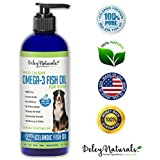 Wild Caught Omega 3 Fish Oil for Dogs - Improves Shedding, Dry and Itchy Skin, Arthritis Pain Relief for Dogs, Superior EPA/DHA Potency, GMO Free, Supplements for Dogs, Odor Free Fish Oil, 16 oz Pump