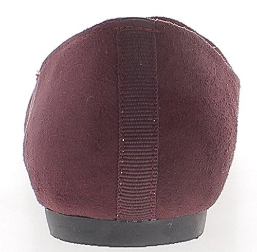 Zapatos Burdeos bi de tamaño gran 5 material punta de 0 tacón cm redondeada RxaTOqwgR4
