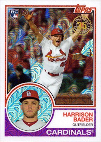 2018 Topps 1983 Design Chrome Silver Refractor #31 Harrison Bader Baseball Rookie Card
