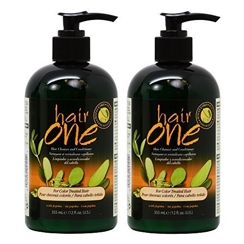 Hair One Hair Cleanser and Conditioner for Color Treated Hair with Jojoba 355ml / 12oz by Hair One
