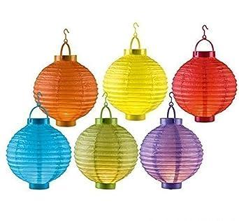 6er Set Led Papierlaterne Lampion Lampions Laterne Garten Ballon