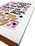 White Frame White Felt Letter Board 12x16 + Bonus 340 3/4'' Black Letters,Symbols and Emojis, 100 2'' Pink Letters, Symbols - Including #,@,&,%,(,),+,-,♥,♪,♫,☻,{,},→, 11 Handpicked Gold Cursive Word