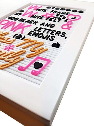 Snow White Backing Board - White Frame White Felt Letter Board 12x16 + Bonus 340 3/4