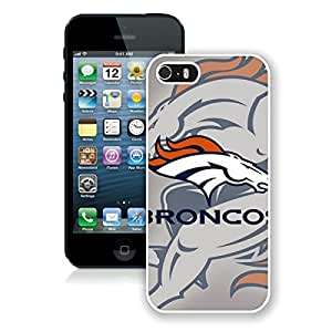Beautiful Designed Case With Denver Broncos 4 White For iPhone 5S Phone Case
