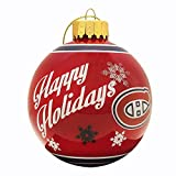 Montreal Canadiens Snowflake Printed Glass Ball Ornament