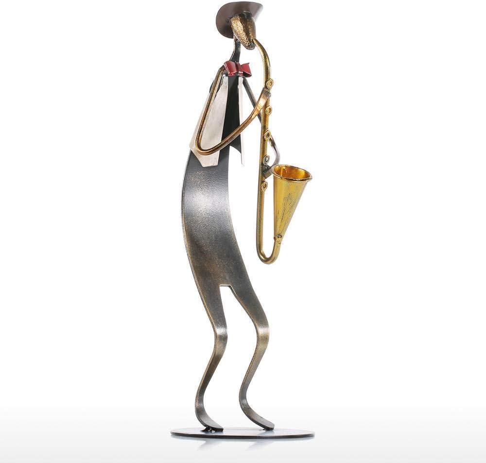 Estatuas Escultura Estatuillas,Hierro Creativo Abstract Hombre Cuerno De Bandas De Música De Carácter Ornamentos Figurilla Coleccionable,Inicio Arte Artesanías Decoración Estatuillas De Escritor