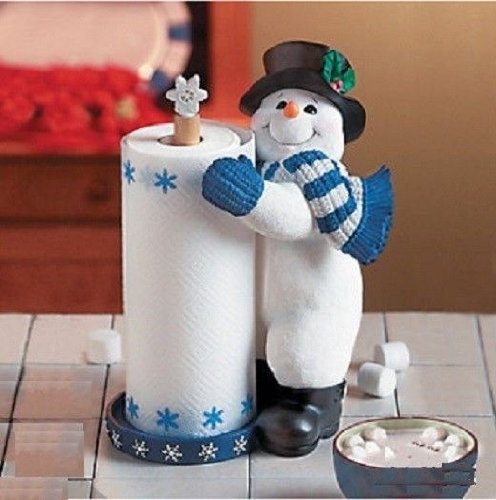 Snowman Towel Holder Christmas Holiday product image