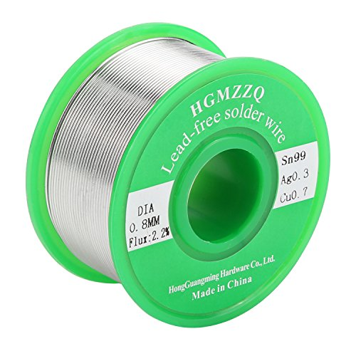 HGMZZQ Lead Free Solder Wire with Rosin Core for Electrical Soldering Sn99 Ag0.3 Cu0.7 100g 0.031 - Super Wire Solder