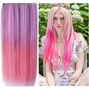 style icon hair extensions reviews uniwigs ombre dip dye color clip in hair 3603