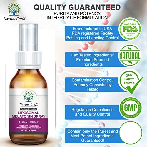 Amazon.com: NatureGenx - Spray de melatonina natural ...