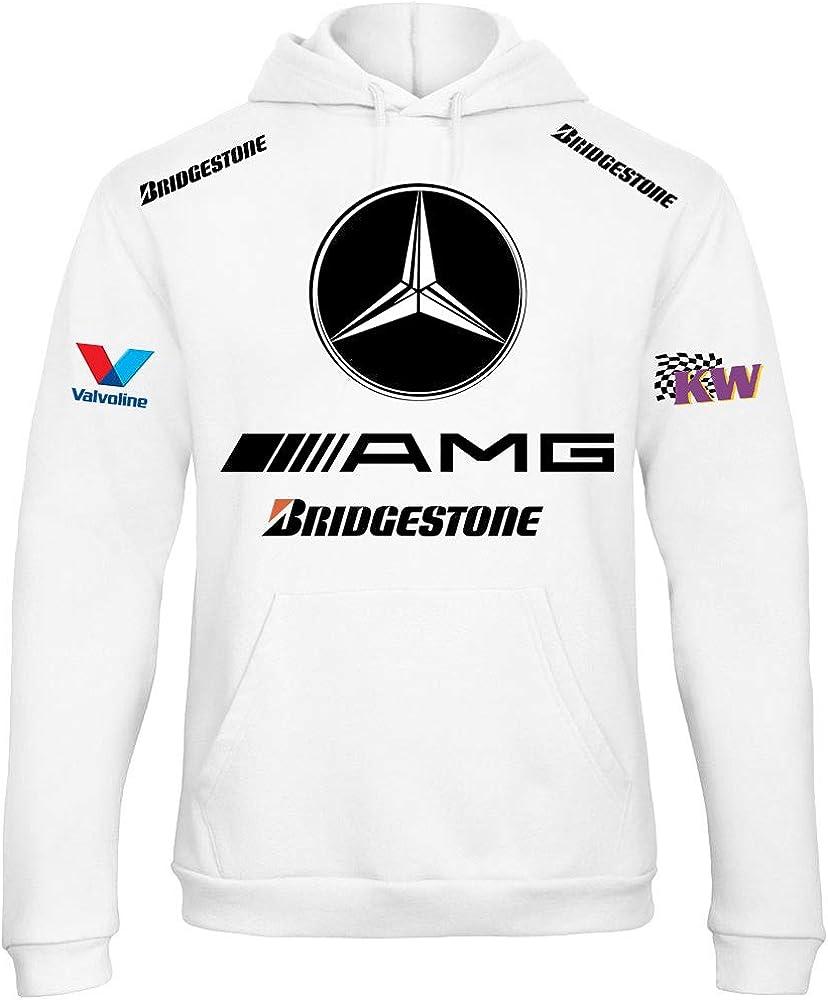 Felpa con cappuccio personalizzata stile Mercedes racing rally auto moto