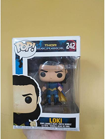 Thor 3 Ragnarok Cartoon Loki Bobble Head Figure 10CM Toy Doll New in Box