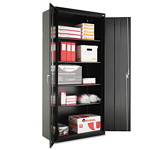 Alera ALECM7818BK Assembled 78'' High Storage Cabinet, w/Adjustable Shelves, 36w x 18d, Black by Alera