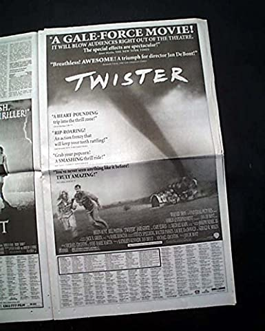 3a6fb3fab Amazon.com: Best TWISTER Film Movie 1st Week 2nd Friday Poster AD ...