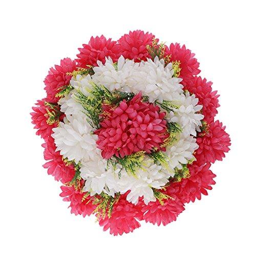 Homyl Memorial Grave Artificial Silk Flower Arrangement Funeral Cemetery Decoration - Rose