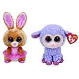 Ty Easter 2016 Beanie Boos Twinkle Toes the Ballerina bunny and Lavender the Purple Lamb