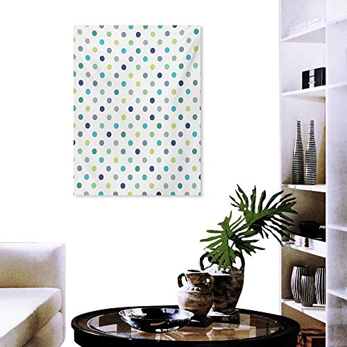 cobeDecor Polkadot Canvas Wall Art Polka Dots Retro Classy Vintage Fabric Pattern Design Style Customizable Wall Stickers 16