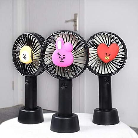 Pingjing Kpop Bangtan Boys Mini ventilateur portable BTS Bangtan Boys BTan Cartoon USB rechargeable /à piles Tata