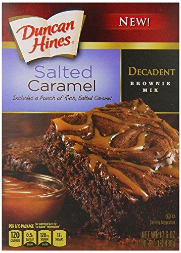 Duncan Hines Decadent Brownie Mix, Salted Caramel, 17.6 Ounce (Cake Hines Caramel Duncan Mix)