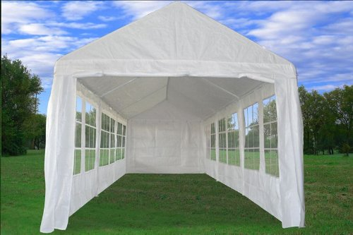 30u0027x10u2032 PE Tent White (PE3010) u2013 Wedding Party Tent Canopy Carport u2013 with Storage Bags u2013 By DELTA Canopies | Party tents Sale & 30u0027x10u2032 PE Tent White (PE3010) u2013 Wedding Party Tent Canopy Carport ...