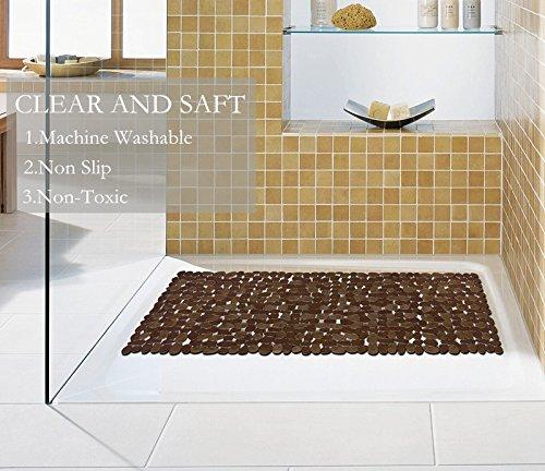 Amazon Com Nttr Non Slip Bath Mat Anti Bacterial Tub Mat Pebbles