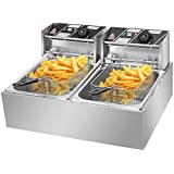 Comft Deep Fryer Commercial Fry Daddy with Basket, Stainless Steel Electric Countertop Large Capacity Kitchen Frying Machine