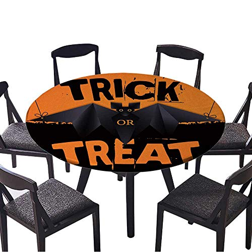 Round Tablecloths Hanging Origami bat and Trick or Treat Halloween Text or Everyday Dinner, Parties 67