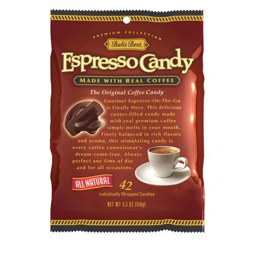 Bali's Best Espresso Coffee Candy - 42 pieces - 5.3 Oz