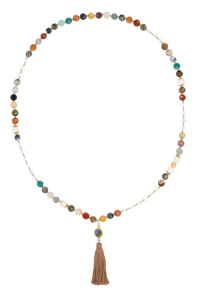 Chan LUU Multi Tassel Long Necklace with Semi-Precious Stones by Chan Luu Authorized Reseller (Image #1)
