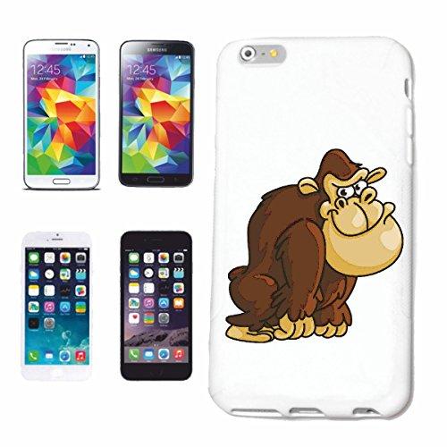 caja del teléfono Huawei P9 FELIZ GORILA MONO Chimpancé del GORILA posterior de la plata APE CHARLY MONKEY KING KONG Caso duro de la cubierta Teléfono Cubiertas cubierta para el Apple iPhone en blan