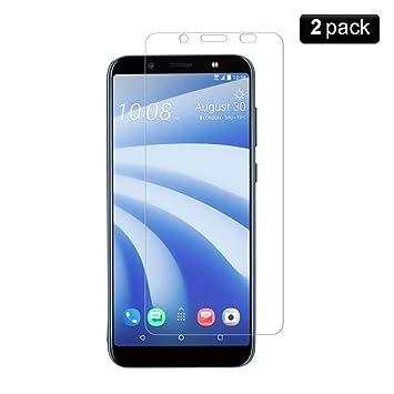 PaceBid [2 Pack] Protector de Pantalla HTC U12 Life,[Dureza 9H] [Anti-Arañazos] [Anti-Huellas] Cristal Vidrio Templado Premium para HTC U12 Life: Amazon.es: ...