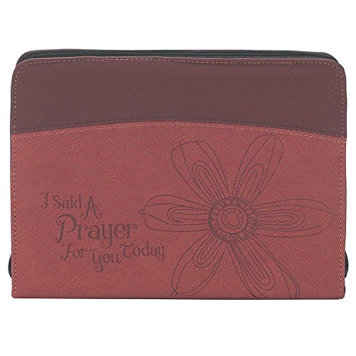 Said a Prayer for You Burgundy Leather Like Vinyl Bible Cover Case, Thinline