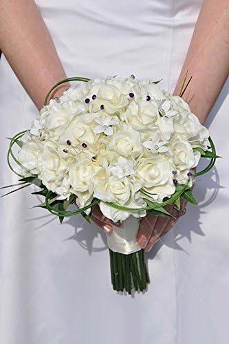 Bouquet Sposa Avorio.Bouquet Da Sposa Esotico Con Stephanotis E Rose D Avorio Amazon