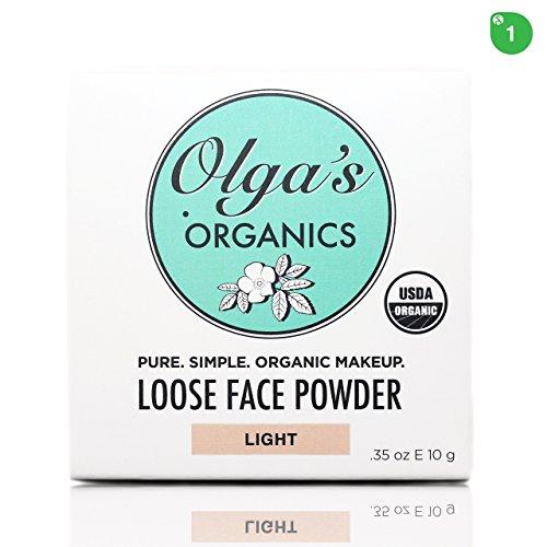 USDA Organic Loose Face Powder - Light by Olga's Organics