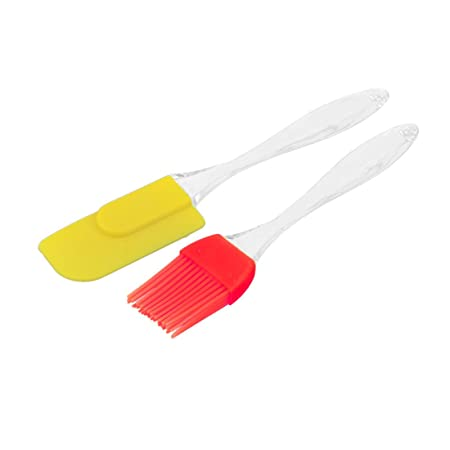 ShopToShop Silicone Spatula and Pastry Brush for Cake Mixer, Decorating, Cooking, Baking and Glazing(Multicolour, Standard Size) Baking Tools & Accessories at amazon