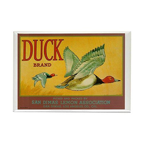 CafePress Duck Brand Lemon Crate Label Art Rectangle Magnet Rectangle Magnet, 2