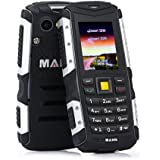 ECOOPRO Rugged Unlocked GSM Cell Phone (Gold) – Dual SIM Mobile Device – Shockproof, Waterproof, Dustproof – Rear...