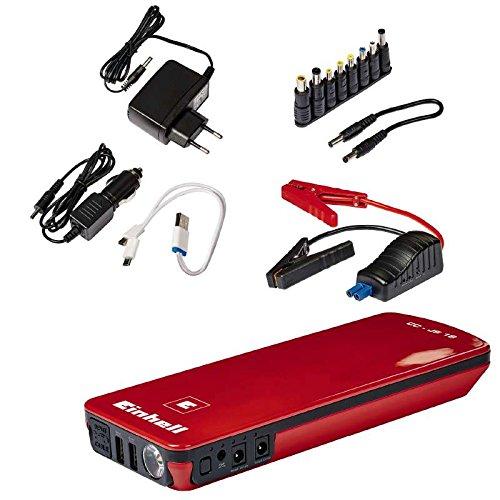 Einhell Auto-Starthilfe - CC-JS 18 (3 x 6000 mAh, Energiestation, Jump Starter, mobile Stromversorgung, LiPo-Akku, Ladezustandsanzeige, Starthilfeeinrichtung, inkl. Tasche)