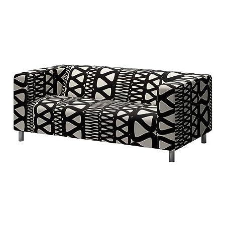 Ikea klippan cover two seat sofa storlien black white
