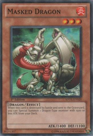 Masked Dragon - Yu-Gi-Oh! - Masked Dragon (SDDL-EN020) - Structure Deck: Dragunity Legion - 1st Edition - Common