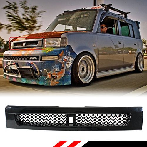 Fits for 2004-07 Scion XB Glossy Black JDM BB Style Front Hood ABS Grill Grille W/Metal - Scion Front Xb Grill