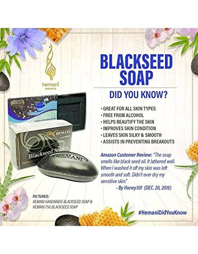 Hemani Halal Blackseed Soap for All Skin Types 75g