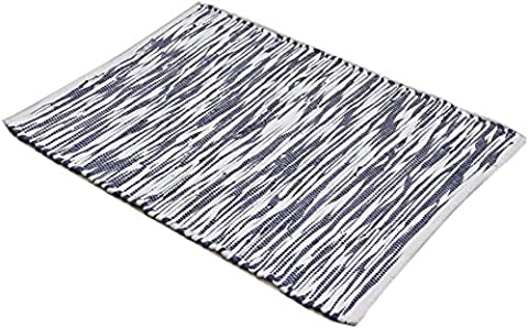 2 x 3 Feet Cotton Rag Rug for Kitchen, Bathroom, Entry Way, Laundry Room and Bedroom, La Vivien. - Cotton Indian Rug