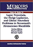 Layer Potentials, the Hodge Laplacian and Global Boundary Problems in Nonsmooth Reimannian Manifolds, Dorina Mitrea and Marius Mitrea, 082182659X