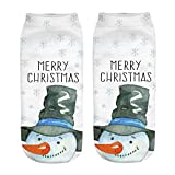 GzxtLTX Ankle Socks Christmas Cartoon Christmas 3D Pattern Printed Single Socks