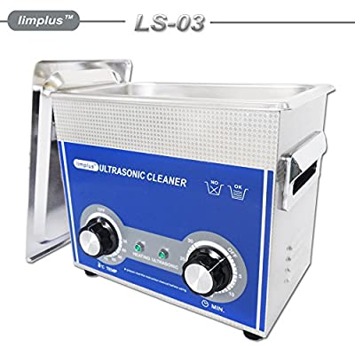 limplus Commercial Ultrasonic Cleaner With Basket and Lid Injection Nozzles Denture Dental Surgical Instruments Fuel Injector Oil Remove 40kHZ Timer Heater