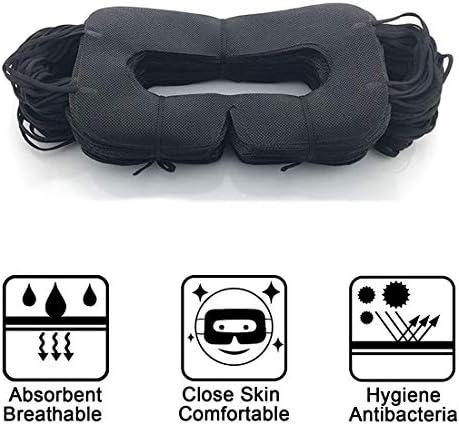 VRマスク 使い捨てアイカバーマスク Oculus/HTC/Gear VR用 目の感染防止 (ブラック50個)